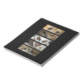 Tier-Augen Notizblock