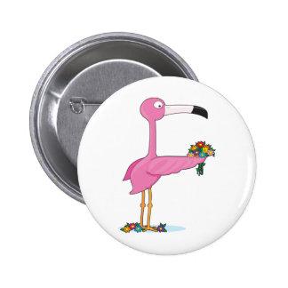 Tieralphabet-Flamingo Runder Button 5,1 Cm