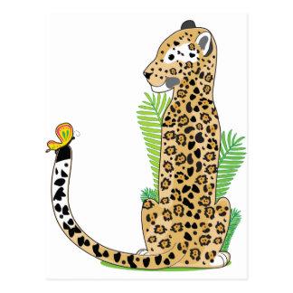 Tieralphabet Jaguar Postkarte
