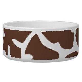Tierdruck, Giraffen-Hintergrund - Brown-Weiß Napf