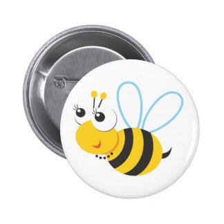 Tiere - Biene Runder Button 5,1 Cm