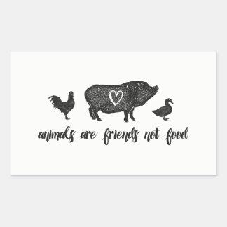 Tiere sind Nahrung der Freunde nicht Rechteckiger Aufkleber
