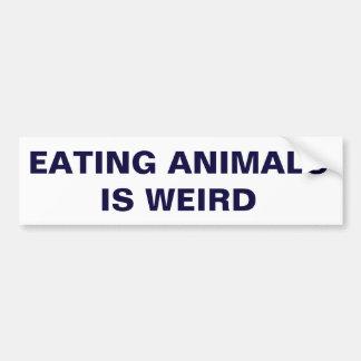 Tiere zu essen ist sonderbar autoaufkleber
