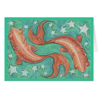 Tierkreis-Fisch-Grußkarte Grußkarte