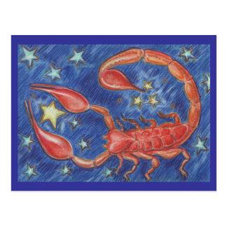 Tierkreis-Skorpionspostkarte Postkarte