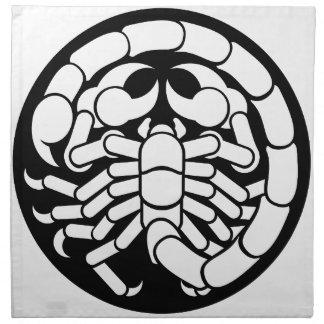 Tierkreis unterzeichnet Skorpions-Skorpions-Ikone Stoffserviette