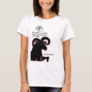 Tierkreis-Widder-RAM mit Merkmalen für sie T-Shirt