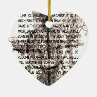 Tierkreismörder Keramik Herz-Ornament