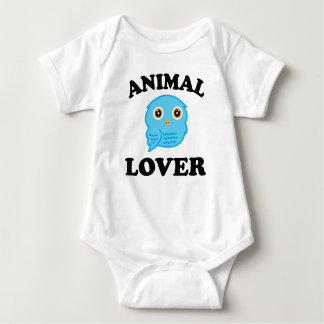 Tierliebhaber-Blau-Eule Babybody