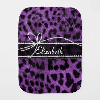 Tierpelzdruck des schönen Leoparden des Imitats Spucktuch