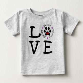 Tierrettungs-Liebe-Baby-Geldstrafe-Jersey-T - Baby T-shirt