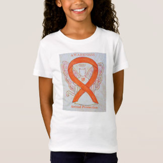 Tierschutz-orange Bewusstseins-Band-Shirt T-Shirt