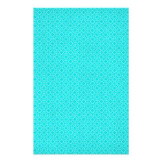 Tiffany-Blau und Creme-ineinander greifenkreise Briefpapier