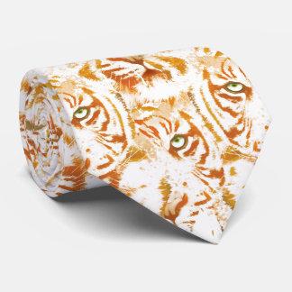 Tiger-Aquarell-Gesichts-Muster Krawatten