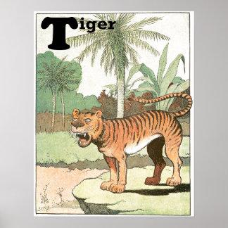 Tiger ein in den tropischen poster