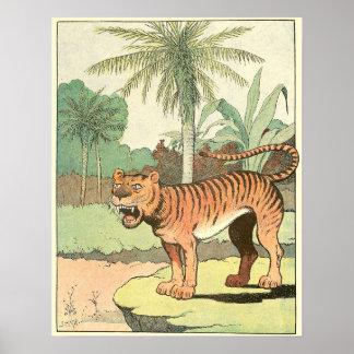 Tiger-Geschichten-Buch illustriert Poster