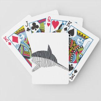 Tiger-Haifisch-Zeichnen Bicycle Spielkarten