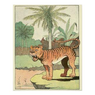 Tiger in einem tropischen Dschungel Perfektes Poster