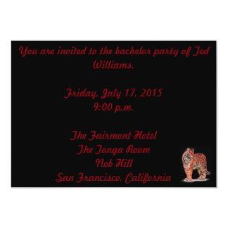 Tiger-Junggeselle-Party-Karte 12,7 X 17,8 Cm Einladungskarte