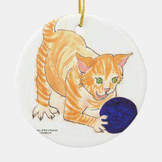 Tiger-Kätzchen-Verzierung Rundes Keramik Ornament