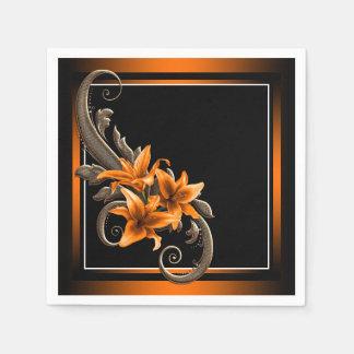 Tiger-Lilien-Hochzeit Papierserviette