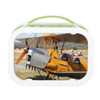 Tiger-Mottengelbdoppeldeckerflugzeuge