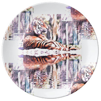 Tiger-Platte Teller