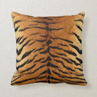 Tiger-Streifen-Pelz-Druck Zierkissen