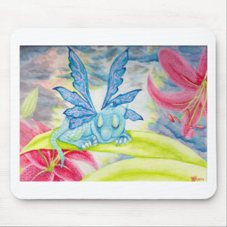 Tigerlilien-Blumensturmfrühling des Babydrachen Mousepad
