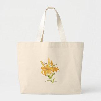 Tigerlilien-Taschentasche Jumbo Stoffbeutel