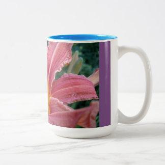 Tigerlilien-Tasse Zweifarbige Tasse