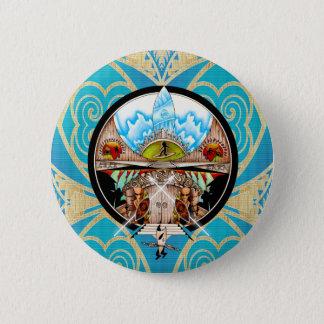 Tiki Dorf Runder Button 5,1 Cm