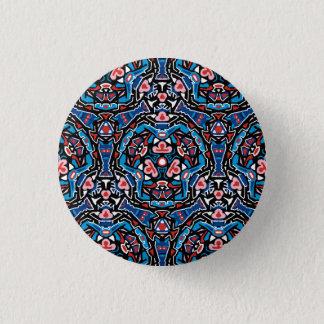 Tiki inspirierte Musterknopf Runder Button 3,2 Cm