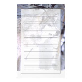 Timberwolf, Canis Lupus, Film Tierutah) Briefpapier