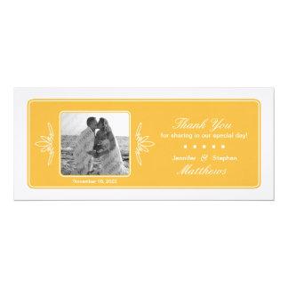 Timeless Charme-Hochzeits-Foto danken Ihnen - 10,2 X 23,5 Cm Einladungskarte