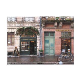 Timeless französische Vintage Szene Leinwanddruck