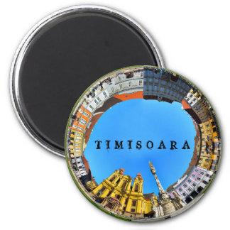 timisoara runder magnet 5,7 cm