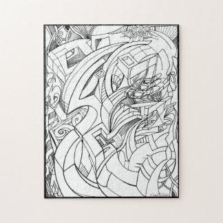 Tinte, die Puzzlespiel zeichnet Puzzle