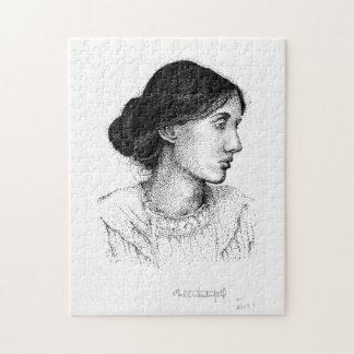 Tinten-Porträt-Kennzeichen Westerfield Virginias Puzzle