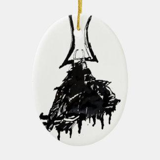 Tinten-Samurais 1 Keramik Ornament