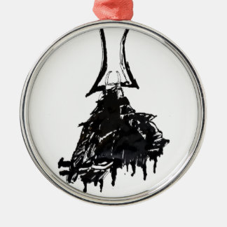 Tinten-Samurais 1 Silbernes Ornament