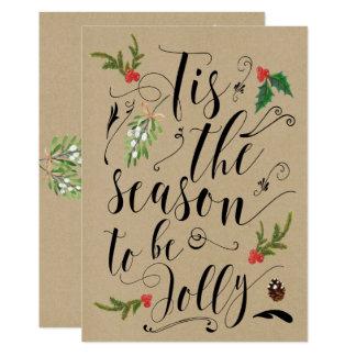 Tis die Jahreszeit, zum lustige Weihnachtskarte zu Karte