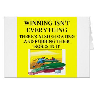 Tischtennis-Klingeln pong Karte
