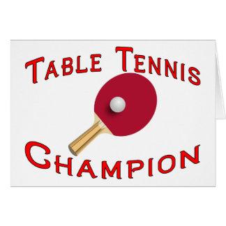 Tischtennis-Meister Karte