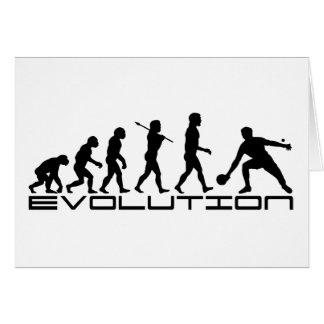 Tischtennis-Sport-Evolutions-Kunst Karte