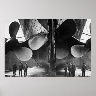 TITANISCHES Propeller-Plakat Effektivwerts Poster