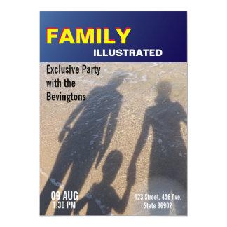 Titelseiten-Familien-Party-Strand-Hochzeit Karte