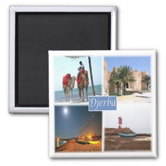 TN * Tunesien - Djerba Quadratischer Magnet