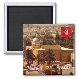 TN - Tunesien - Mahdia - die große Moschee Quadratischer Magnet