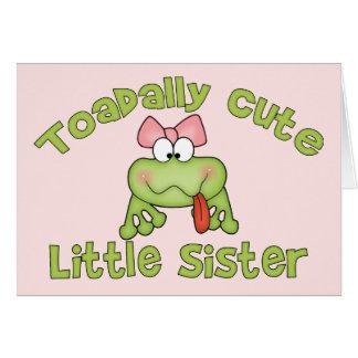 Toadally niedliche kleine Schwester Karte